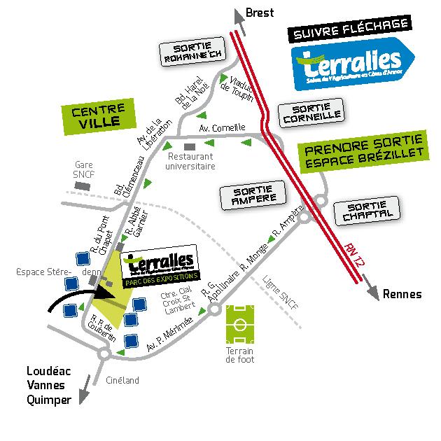 Plan accès Terralies 2015